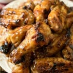 Honey Mustard Soy Glazed Chicken Wings - A Family Feast