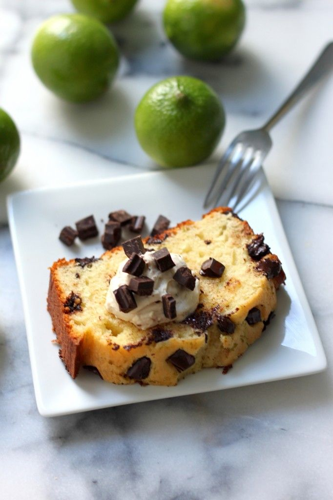 Dark Chocolate Chunk Key Lime Pound Cake -30-Plus Fantastic Key Lime Recipes - A Family Feast