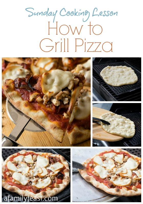 How to Grill a Pizza (It's easy!) - plus a link to the best homemade pizza dough!