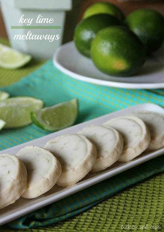 Key Lime Meltaway Shortbread - 30-Plus Fantastic Key Lime Recipes - A Family Feast