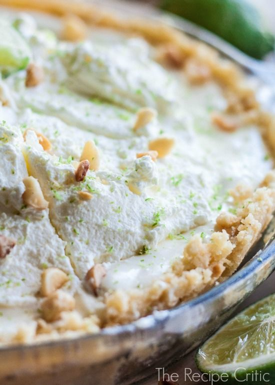 Macadamia Key Lime Pie - 30-Plus Fantastic Key Lime Recipes - A Family Feast