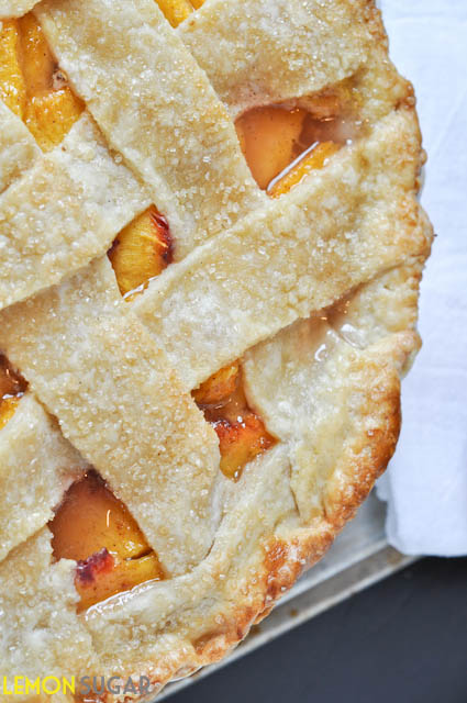Peach Pie with Buttermilk Crust - 25-Plus Perfect Peach Recipes