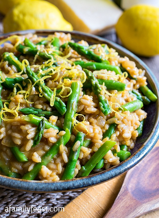 Asparagus Lemon Risotto - Wonderful fresh flavors of asparagus and ...