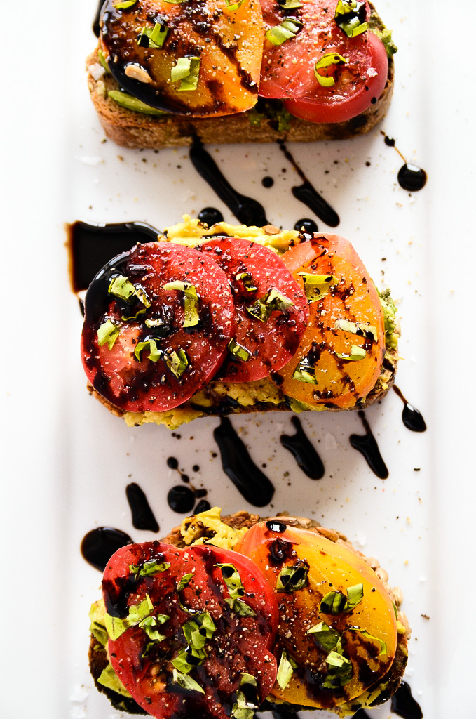 Avocado Heirloom Toast - 30+ Recipes for Your Garden Tomatoes
