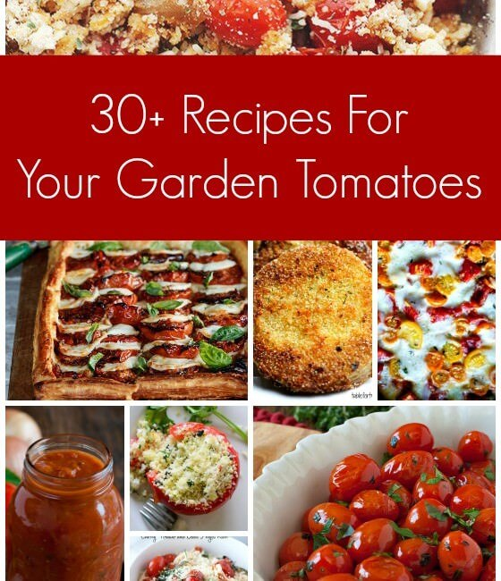 30+ Recipes for your Garden Tomatoes