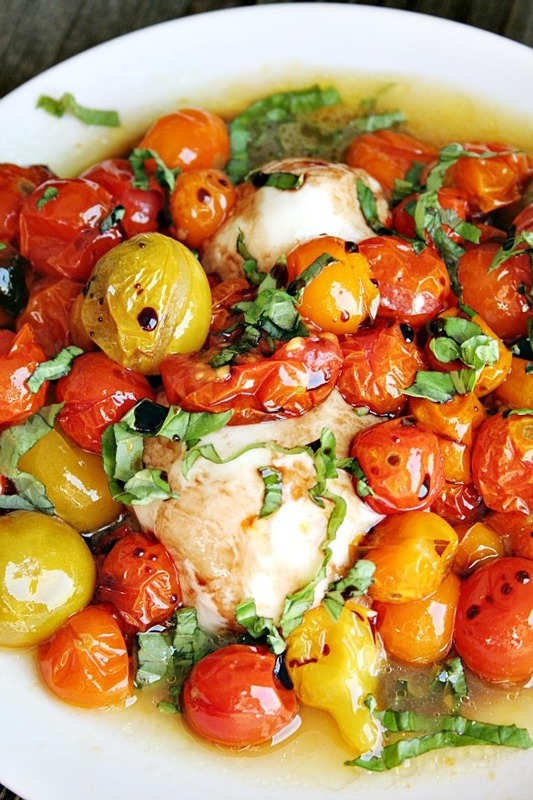 Grilled Fresh Mozzarella with Roasted Tomatoes and Basil - 30+ Recipes for Your Garden Tomatoes