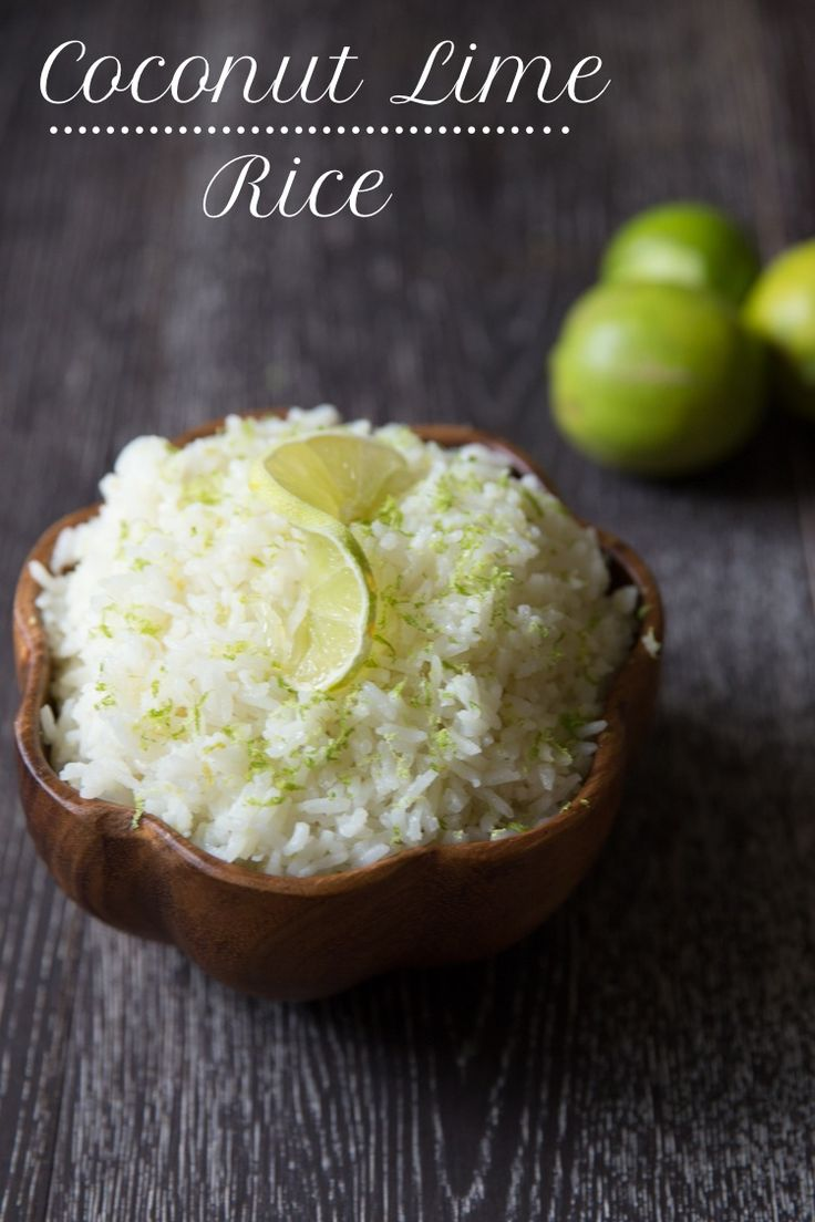 Coconut Lime Rice - 30+ Remarkable Rice Recipes