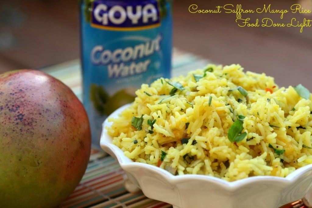 Coconut Saffron Mango Rice - 30+ Remarkable Rice Recipes