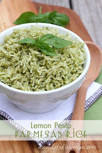 Lemon Pesto Parmesan Rice - 30+ Remarkable Rice Recipes