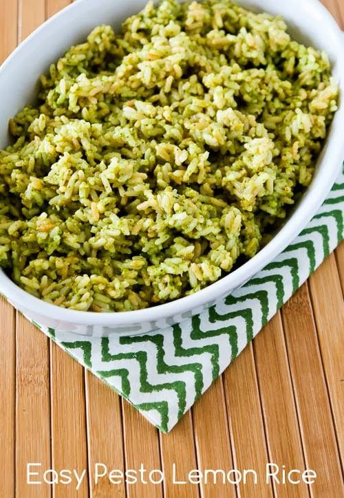 Pesto Lemon Rice - 30+ Remarkable Rice Recipes