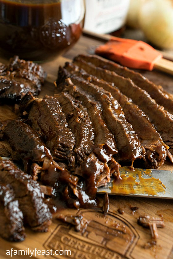 Slow Cooker Barbecue Beef Brisket - A Family Feast