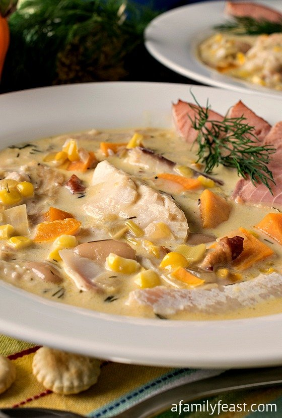 Smoked Fish Chowder - A Family Feast