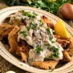 Chicken Escalope with Mushroom Sauce