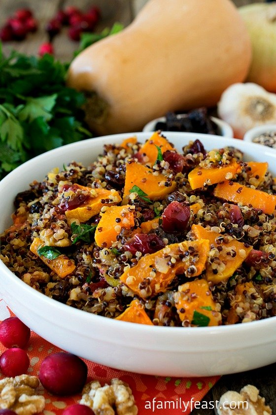 Butternut Squash with Rainbow Quinoa - A Family Feast