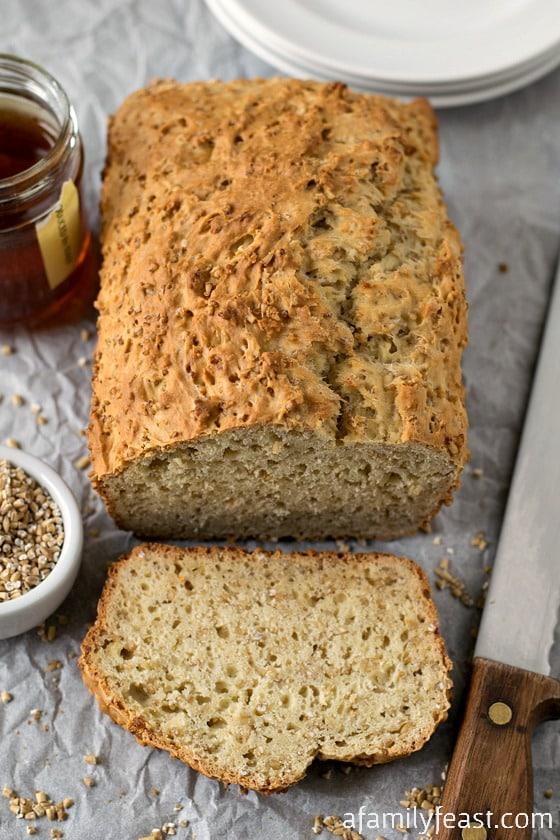 Steel Cut Oatmeal Honey Bread - A wonderful hearty, savory bread with ...