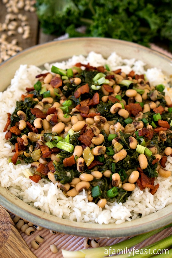 Hoppin' John with Kale - A traditional Southern dish with some ...