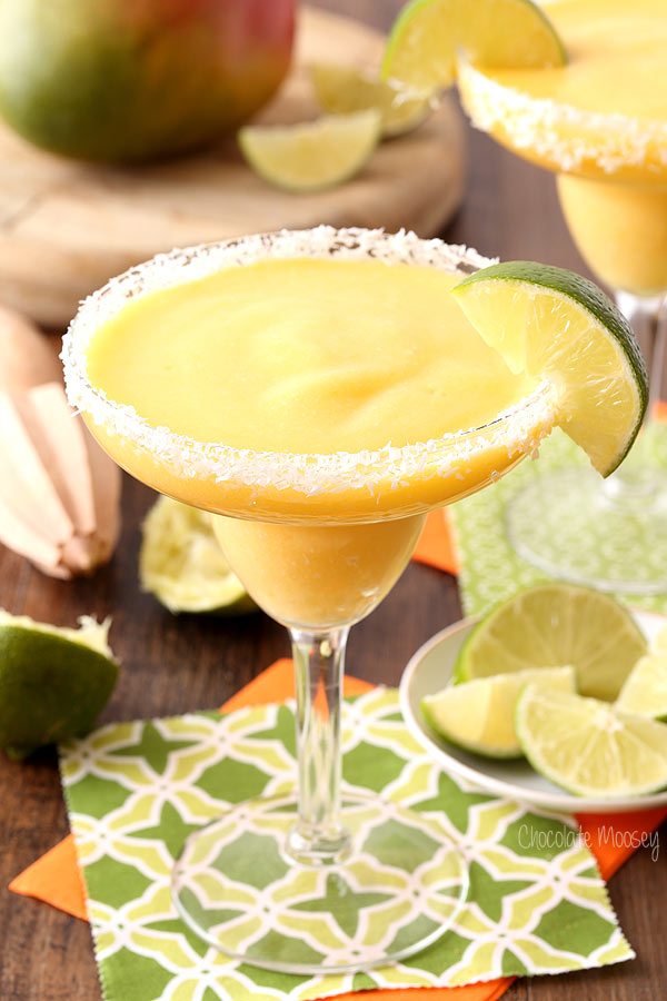 This virgin mango coconut margarita is one of over 30 refreshing margarita recipes in a collection on afamilyfeast.com