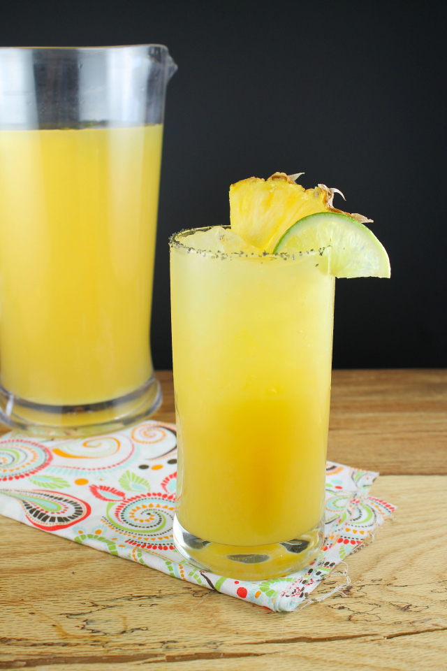 This pineapple margarita is one of over 30 refreshing margarita recipes in a collection on afamilyfeast.com