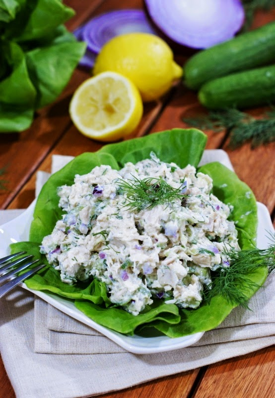 This Tzatziki Chicken Salad from The Kitchen is my Playground is just one of over 20 delicious chicken salad recipes on A Family Feast