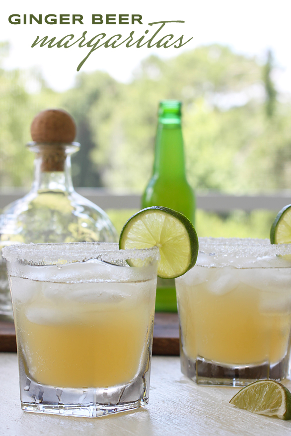 This ginger beer margarita is one of over 30 refreshing margarita recipes in a collection on afamilyfeast.com