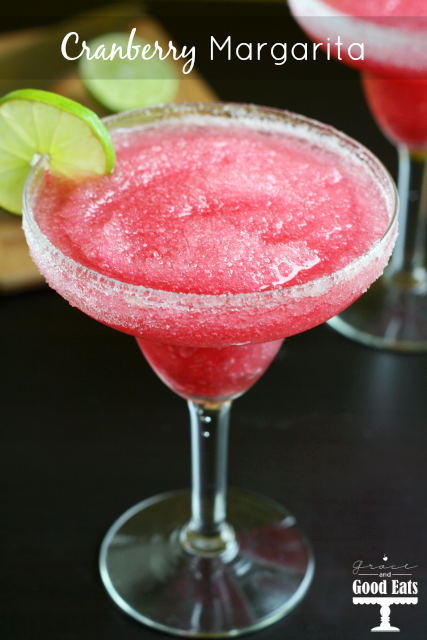 This cranberry margarita is one of over 30 refreshing margarita recipes in a collection on afamilyfeast.com