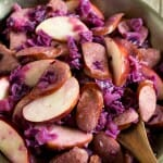 Kielbasa and Red Cabbage Skillet with Apples