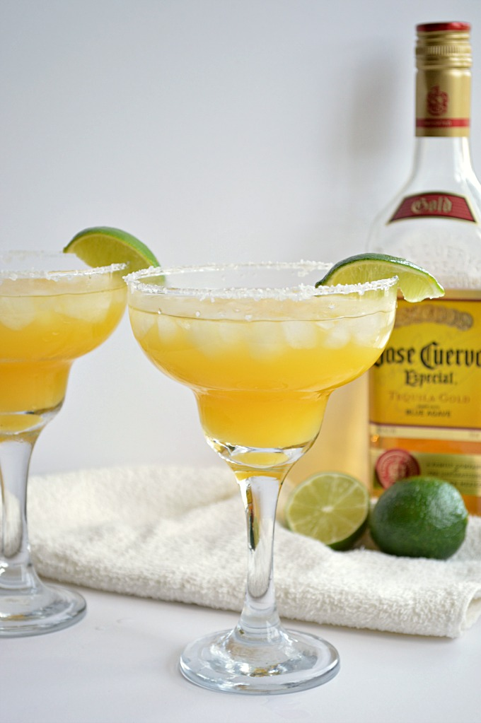This mango margarita is one of over 30 refreshing margarita recipes in a collection on afamilyfeast.com