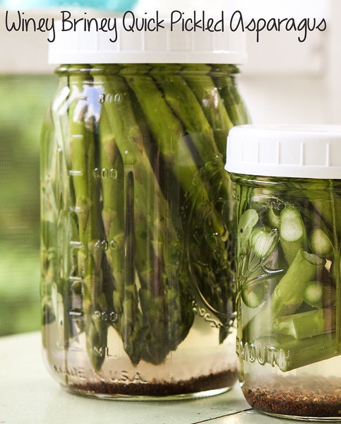 Quick Pickled Asparagus - One of over 30 Amazing Asparagus Recipes to give you cooking inspiration this Spring! See the collection on A Family Feast