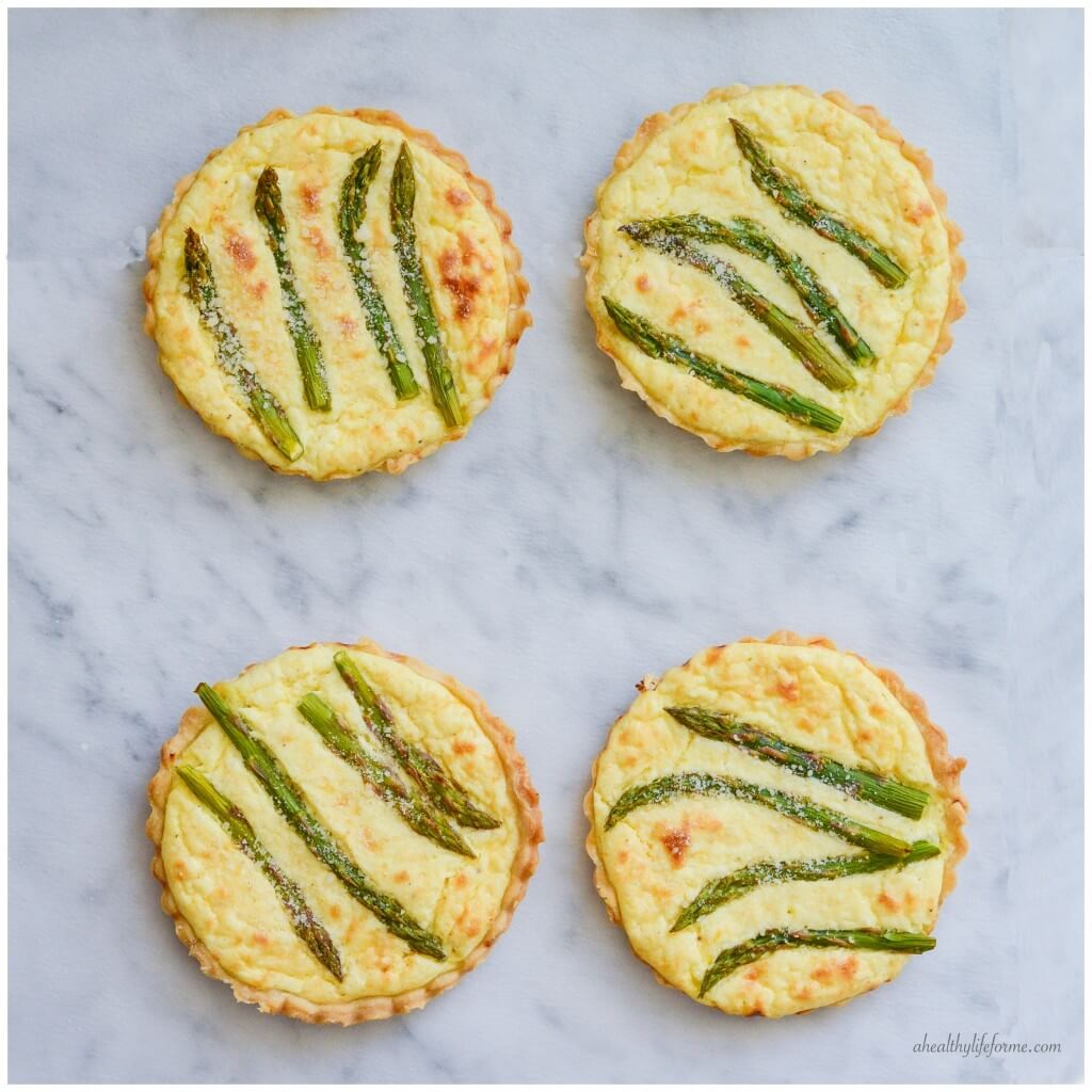 Asparagus Lemon Tartletes - One of over 30 Amazing Asparagus Recipes to give you cooking inspiration this Spring! See the collection on A Family Feast