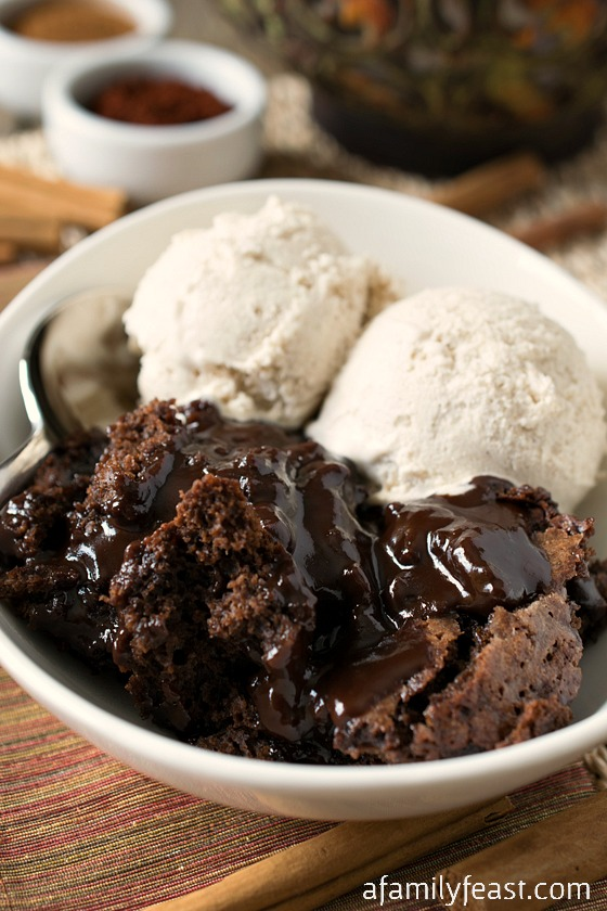 Image result for hot fudge brownie pudding