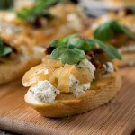 Onion Jam Crostini with Herbed Goat Cheese