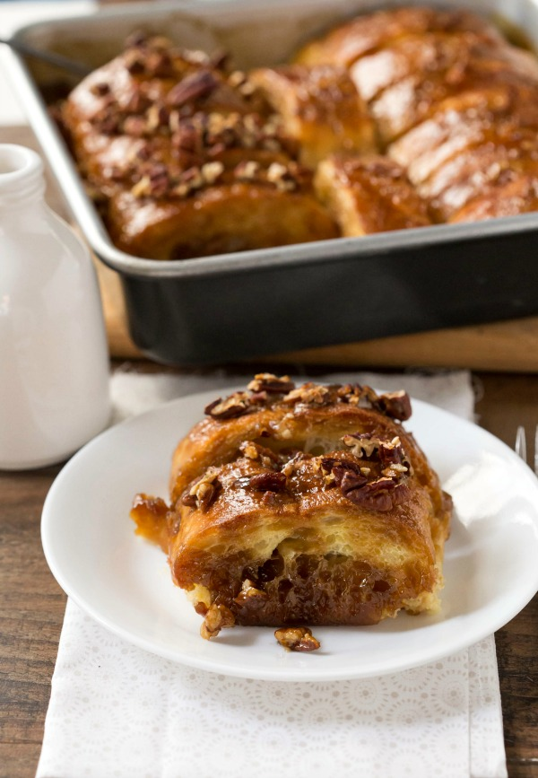 Overnight Sticky Bun French Toast - One of over 30 beautiful brunch recipes for Mother's Day, or any special occasion! The collection includes main dishes, appetizers, drinks, and desserts. | A Family Feast