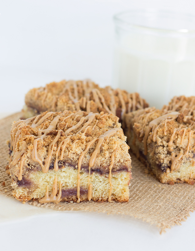 Peanut Butter and Jelly Coffee Cake - One of over 20 delicious peanut ...