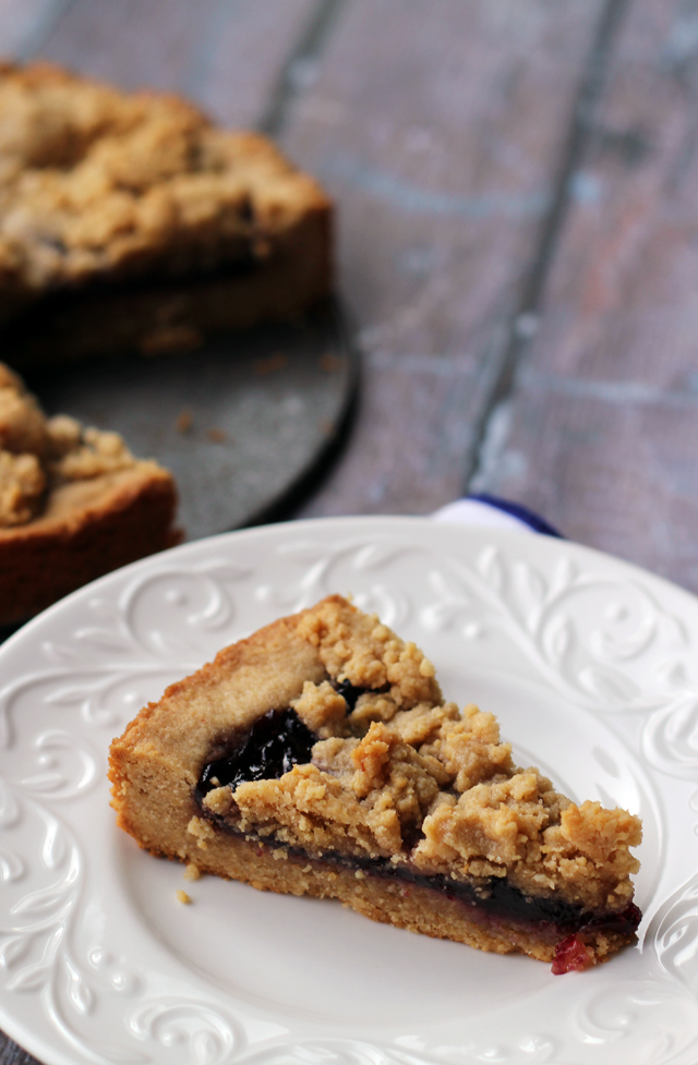 Peanut Butter Jelly Linzer Torte - One of over 20 delicious peanut butter and jelly recipes for Peanut Butter Jelly Time on A Family Feast