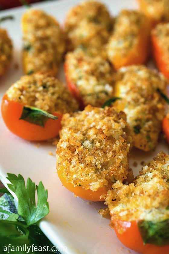 Mini Stuffed Sweet Peppers - A Family Feast