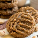 Flourless Peanut Butter Cookies with Sea Salt