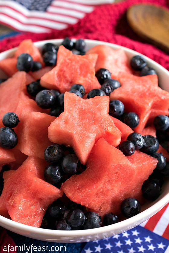 Star Spangled Fruit Salad - A Family Feast