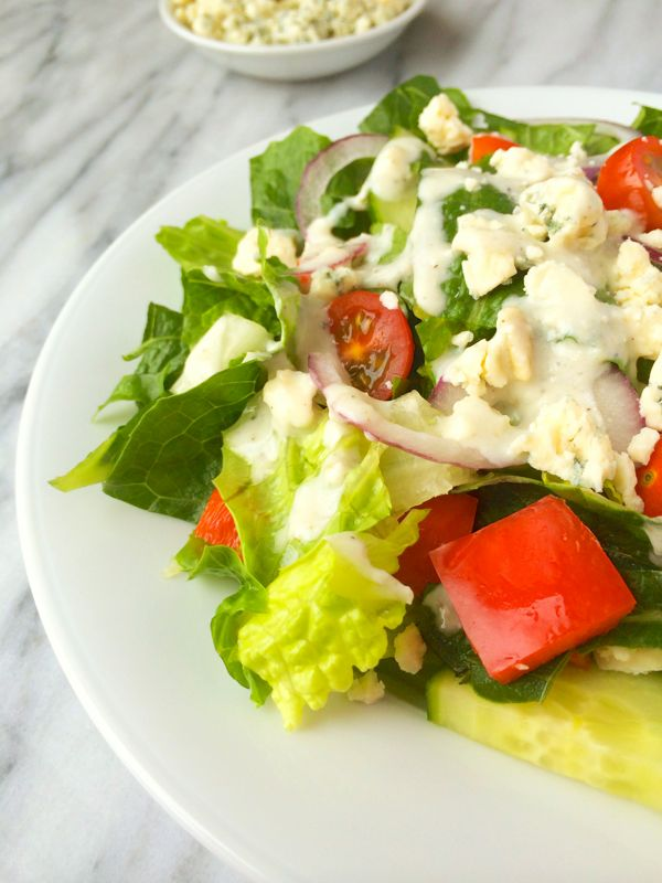 Healthy Blue Cheese Salad Dressing Recipe - 1 of over 25 in the salad dressing collection on A Family Feast