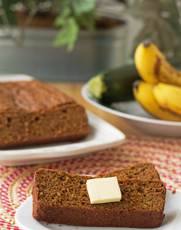 Low Carb Zucchini Banana Bread - Over 30 delicious recipes to help you use up your bounty of garden zucchini. See the recipes on A Family Feast.