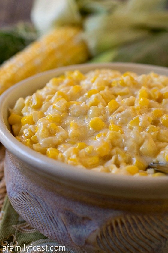 Slow Cooker Creamed Fresh Corn - I've been told this is the best creamed corn recipe around!  Simple to make using fresh corn.