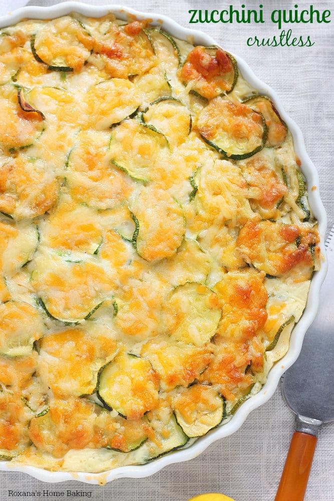 Crustless Zucchini Quiche - 30+ Recipes for your Garden Zucchini
