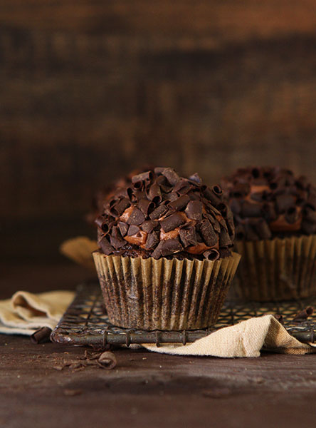 Double Chocolate Zucchini Cupcakes - Over 30 delicious recipes to help you use up your bounty of garden zucchini. See the recipes on A Family Feast.