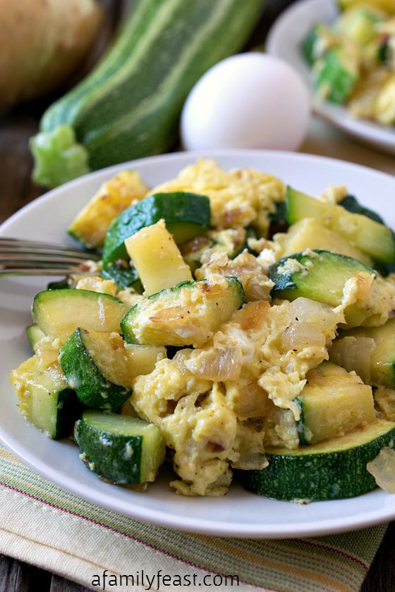 Zucchini and Eggs {Cocozelle} - A Family Feast