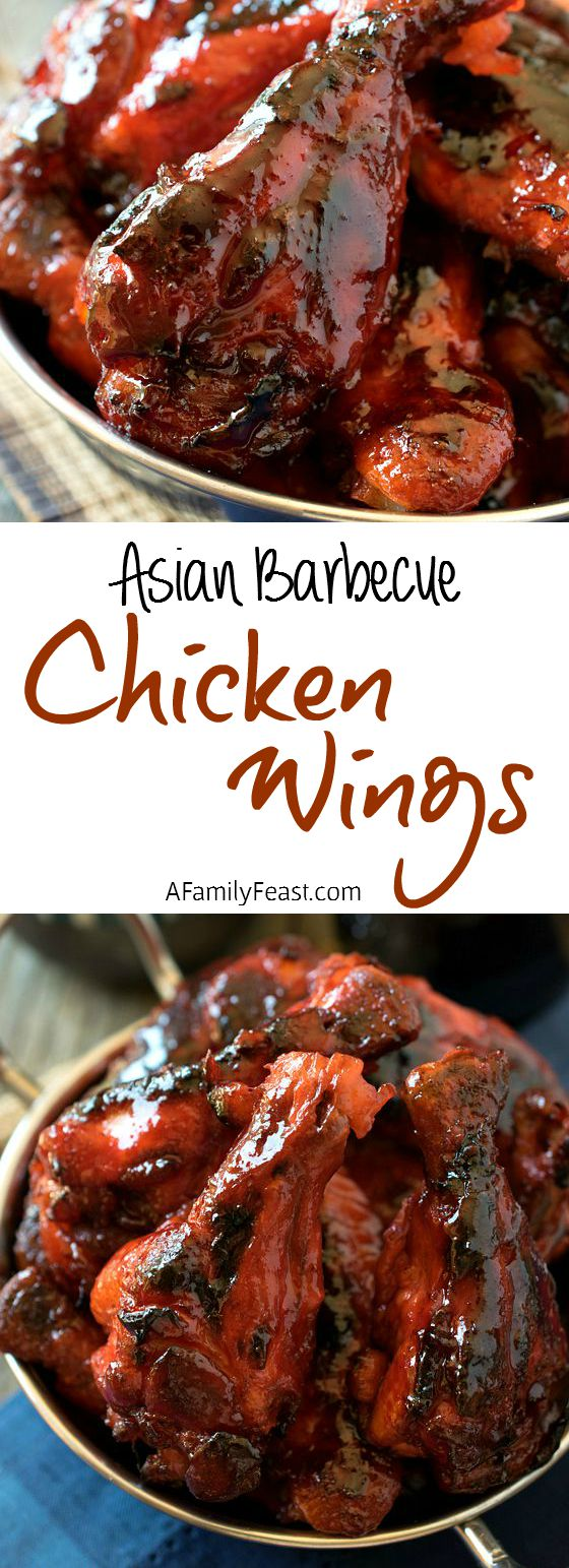 Asian Barbecue Chicken Wings - These easy wings are better than Chinese takeout!
