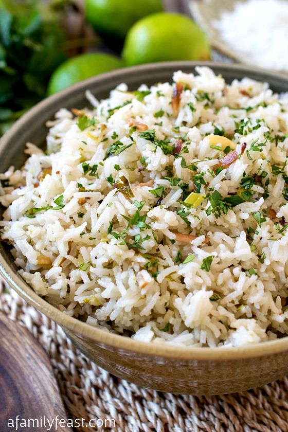 Coconut Rice - A simple, flavorful and versatile side dish! Great with ...