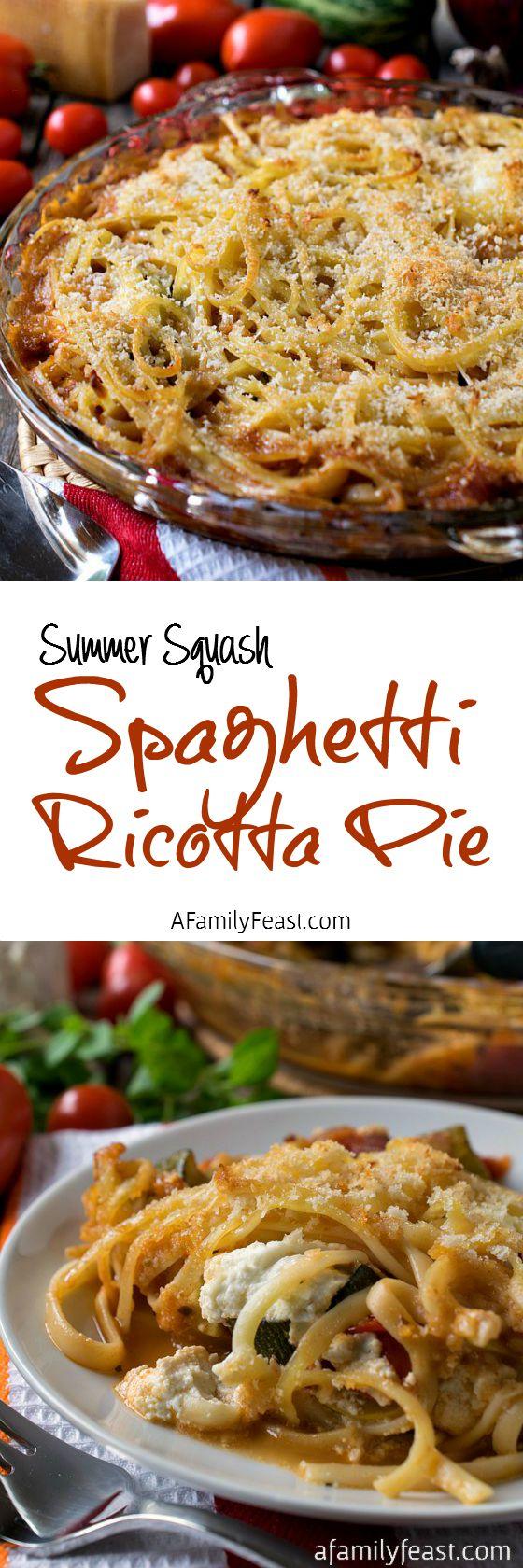 spaghetti pie with ricotta cheese