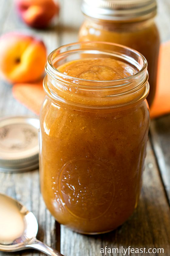 Peach Butter - Simple to make, perfect for canning, and a delicious ...