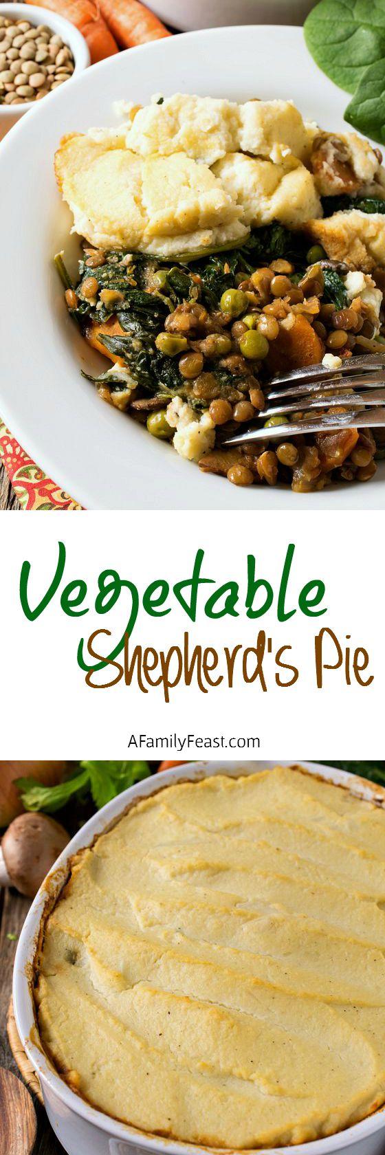 Vegetable Shepherd's Pie - You won't miss the meat in this Vegetable ...