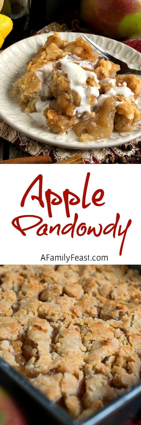 Apple Pandowdy - A vintage New England recipe, this apple dessert has ...