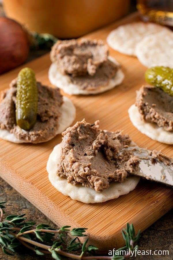 A Chicken Liver Pâté (aka Chopped Liver recipe) passed down through generations. Delicious!